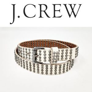 J Crew Womens Belt Size S Ivory Studded Casual